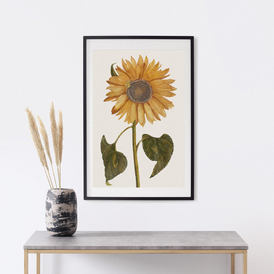 Sunflower painting print poster
