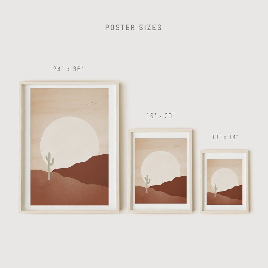 Desert Sunset art prints