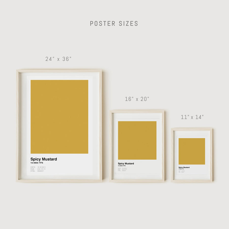 Pantone color wall decors