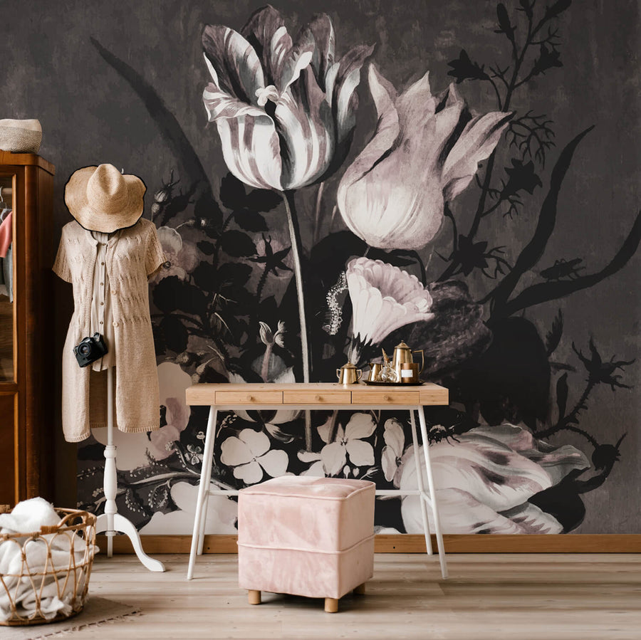 Watercolor Flower Bouquet removable wall mural