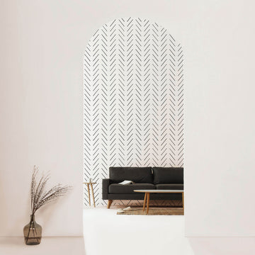 Modern delicate herringbone removable wallpaper