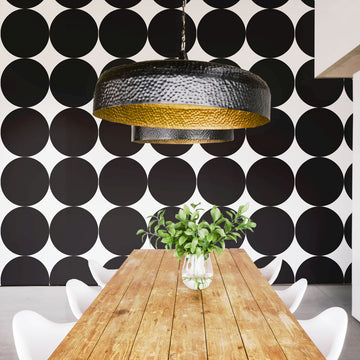 Modern black white removable wallpaper