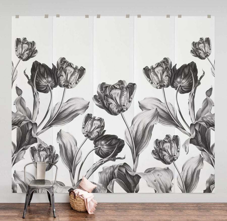 Dutch floral vintage tulips wall mural