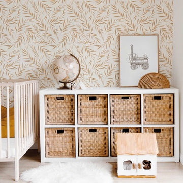 Neutral Desert Leaf removable wallpaper