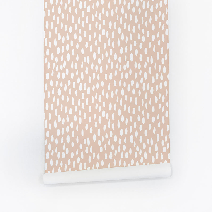 Pink speckle print removable wallpaper