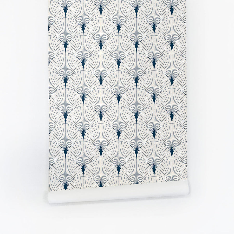 Modern scallop print self adhesive wallpaper