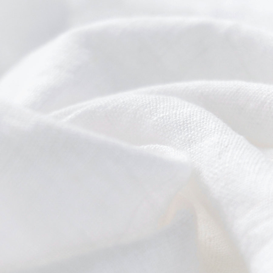 White washed linen material