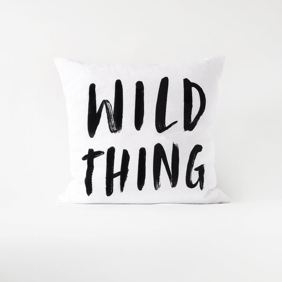 Wild Thing quote throw pillow cover