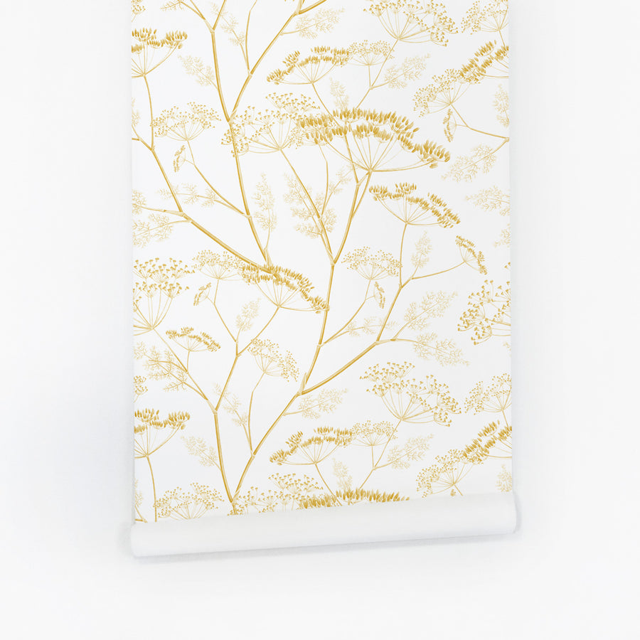 Golden meadow wildflower nursery removable wallpaper