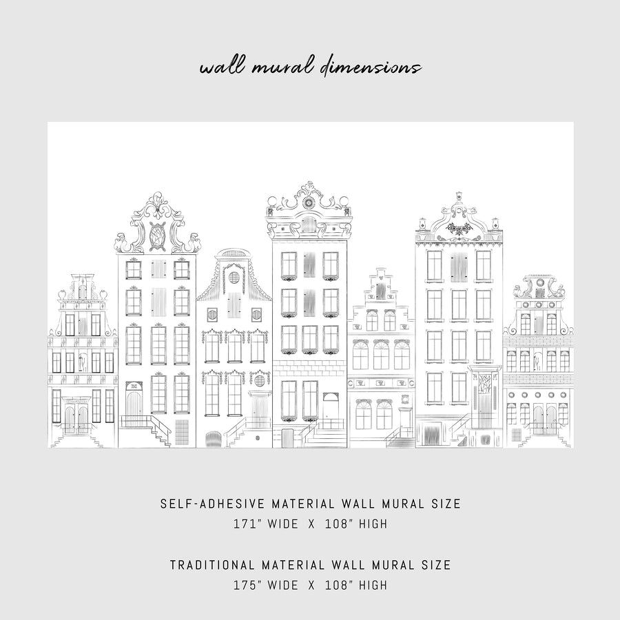 Houses of Amsterdam removable wall mural