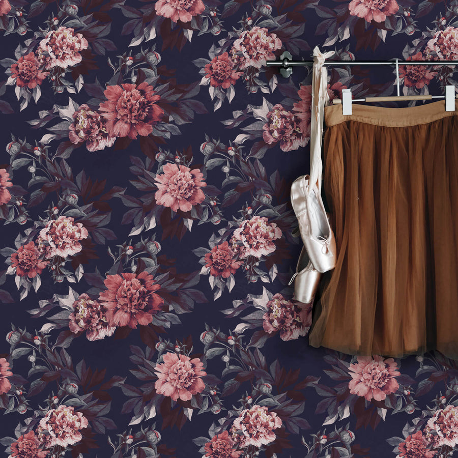 Autumnal blossoms removable wallpaper