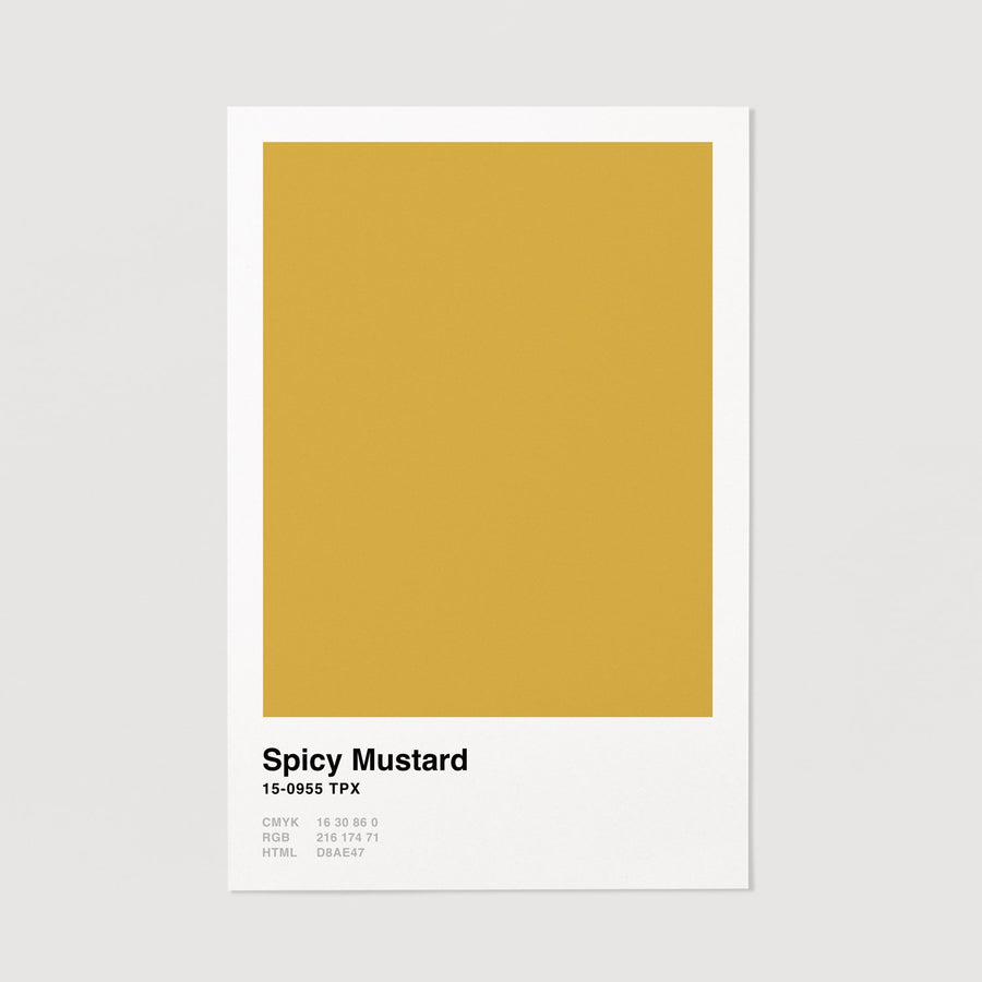 Yellow pantone color wall poster