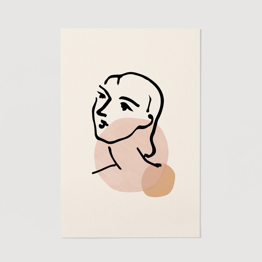 Pale pink woman wall decor