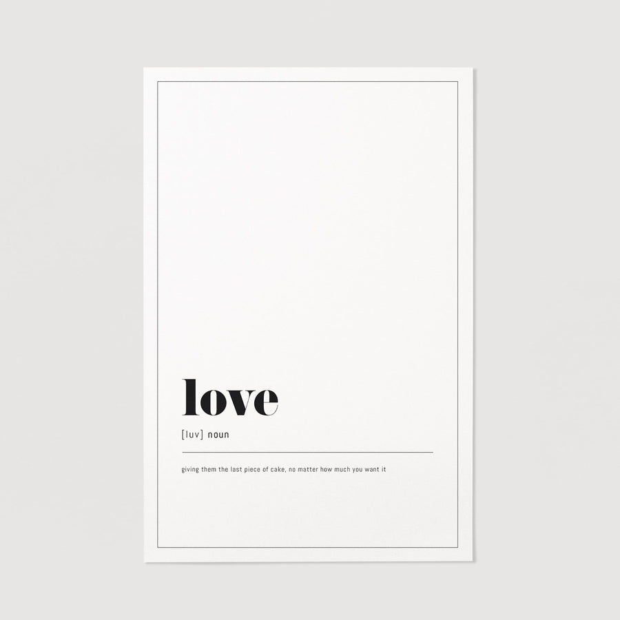 Love definition wall print