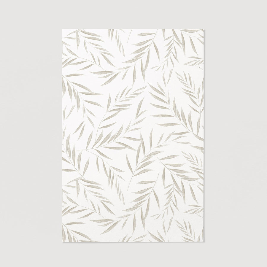Watercolor olive tree leaves poster