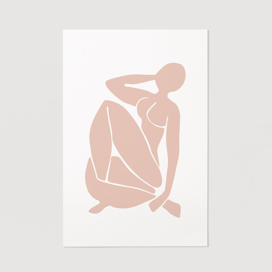 Pale pink feminine wall art