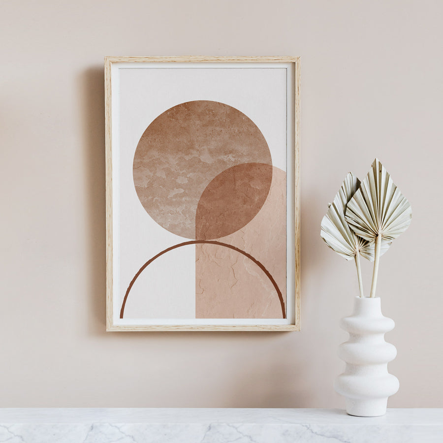 Abstract Geometric Print Poster