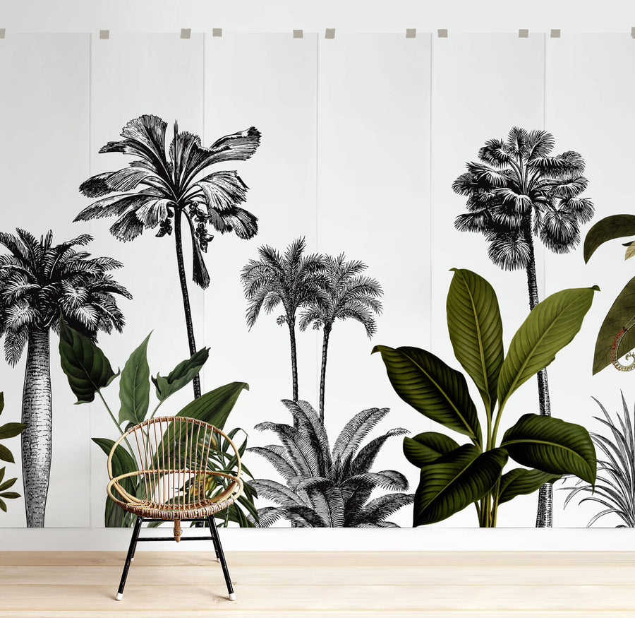 Vintage jungle removable wall mural