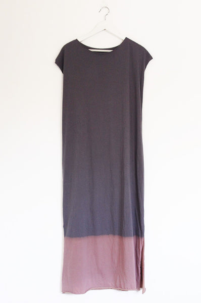 Charcoal Hand dyed  Maxi dress