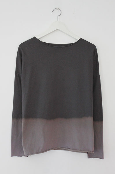 Hand-dyed Charcoal & Grey shirt