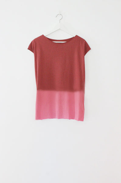 Hand dyed rose summer tshirt