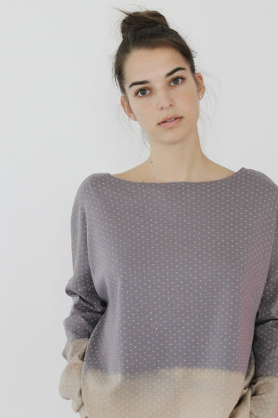Grey Purplish double face sweatshirt