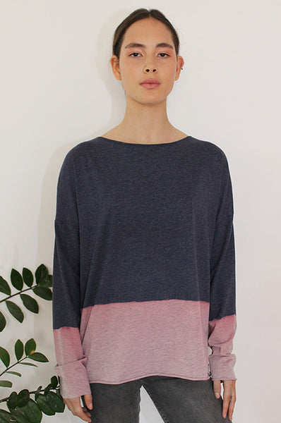Hand dyed heather Blue shirt