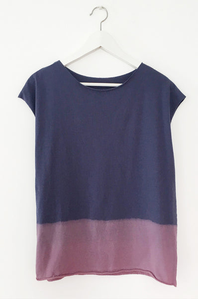 Hand dyed Blue & purple shirt