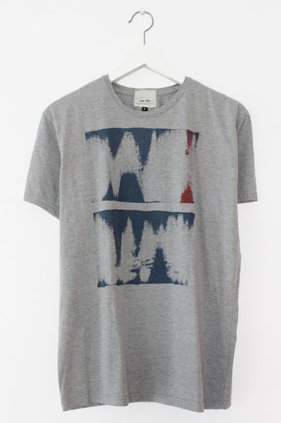 Abstract Print heather Grey men's T