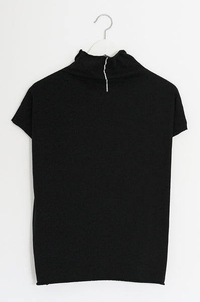 Black turtle neck shirt with stripe print