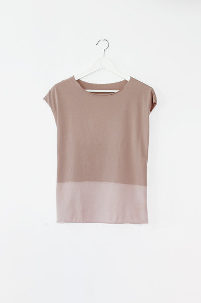 Hand dyed powder pink T-shirt