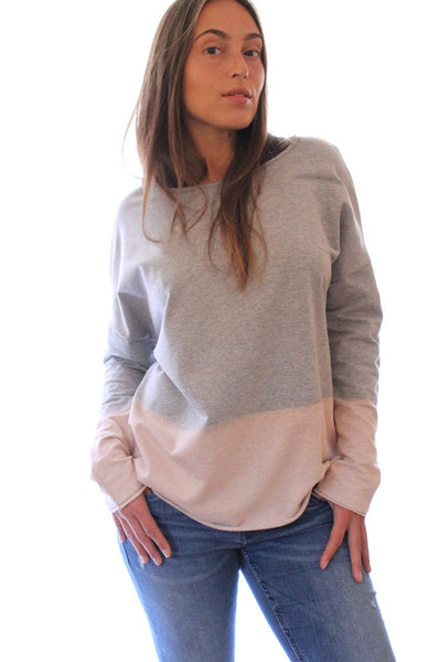 Hand dyed Heather grey sweatshirt