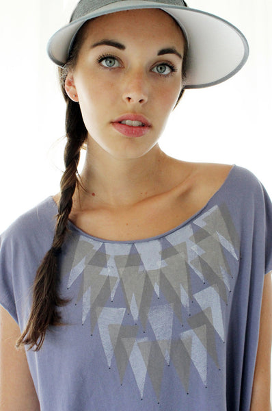 Triangles printed Lavender tshirt