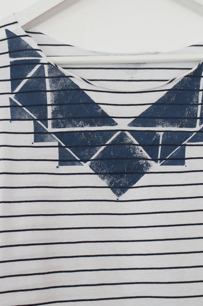 Triangle Blue & White printed shirt