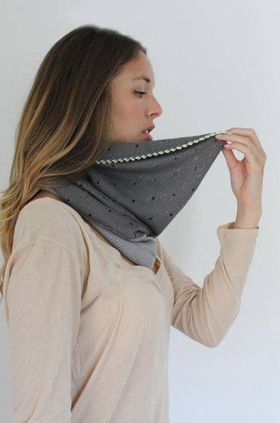 Two shades of Grey Bamboo scarf