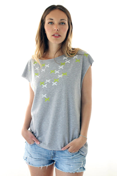 XXX Printed heather Grey tshirt