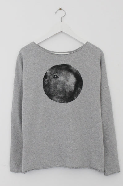 Black moon heather Grey sweatshirt