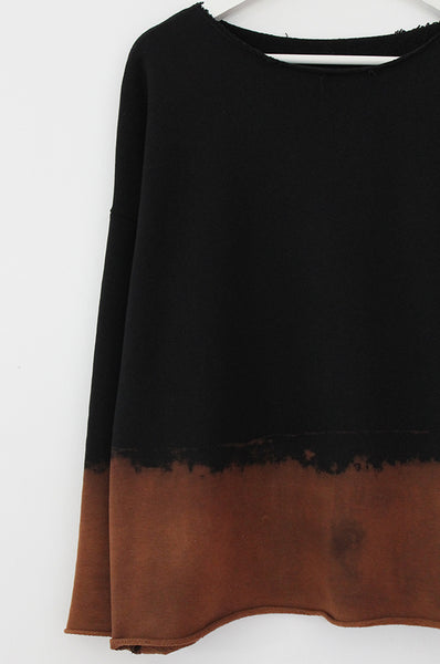 Black sweatshirt with Chestnut dye