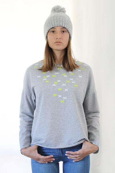 XXX printed heather Grey sweatshirt