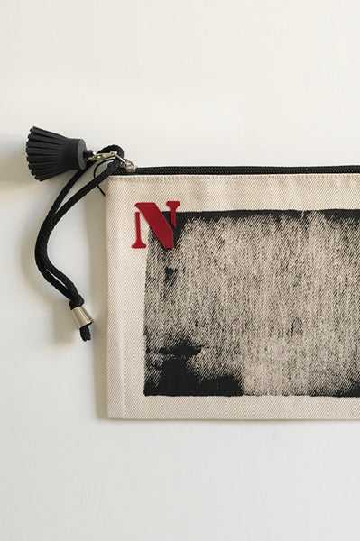Personalized printed canvas pouch