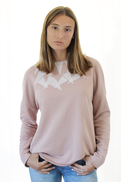 Triangles printed sweatshirtshirt