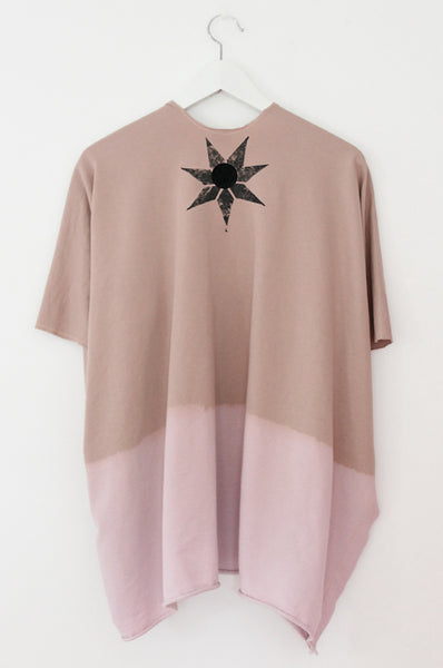 Powder pink throw on sweatshirt
