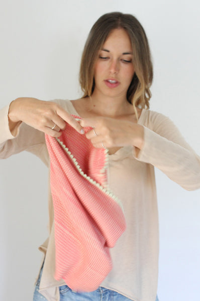 Peach & Lime loop Bamboo scarf