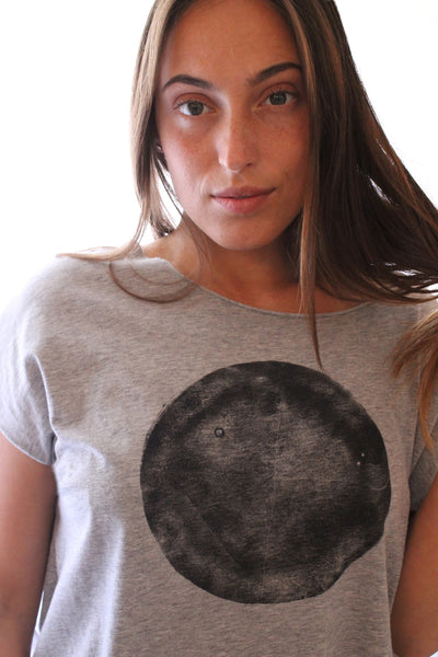 Black moon heather Grey shirt