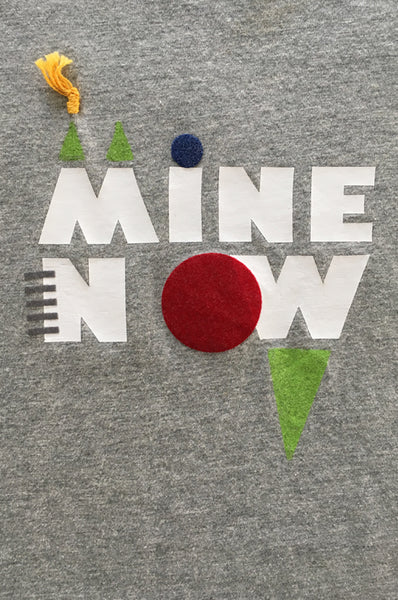 "Unisex ""MINE NOW"" grey T-shirt"