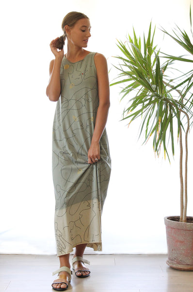 Only One Sage maxi dress SIZE M