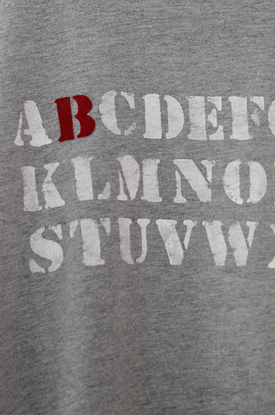 Personalized ABC Grey T-shirt