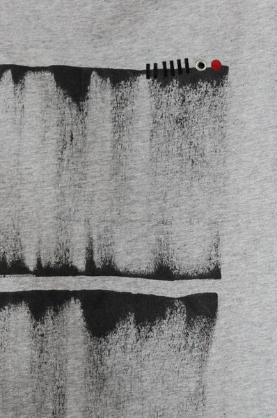 Grey T- shirt with abstract Print
