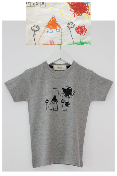 From a child drawing to a printed Grey T