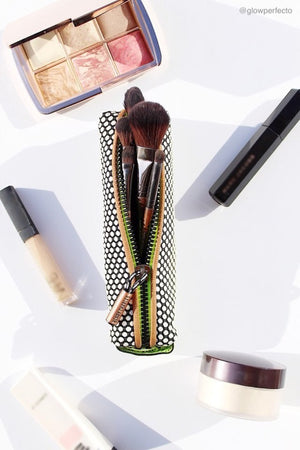 sultry pop pencil case for big and small brushes and makeup tools